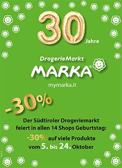 Marka 30 Jahre -30%